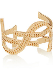 Saint Laurent Cassandre gold-plated cuff