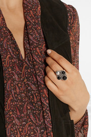 Patti silver onyx ring