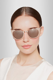 Linda Farrow Round-frame rose gold-plated and acetate sunglasses