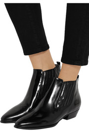 Isabel Marant Presley glossed-leather ankle boots