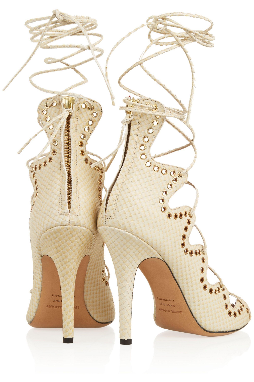 Isabel Marant Lelie snake-effect leather sandals