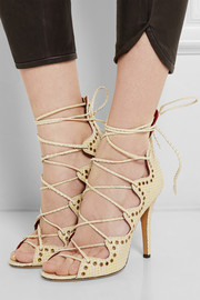 Lelie snake-effect leather sandals