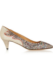 Étoile Gumy glitter-finished leather pumps