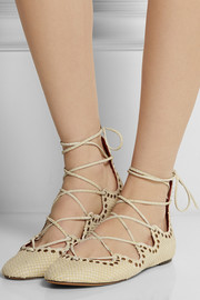 Isabel Marant Leo snake-effect leather ballet flats