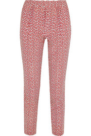 Pax printed silk-crepe tapered pants