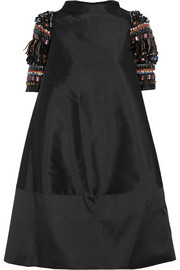 Alana embellished shantung dress