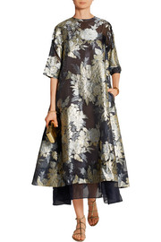 Adine oversized embroidered organza dress
