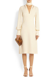 Givenchy Midi dress with neck tie in ivory crepe