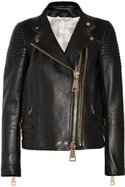 Biker jacket in black leather
