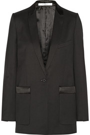 Tuxedo jacket in wool-twill