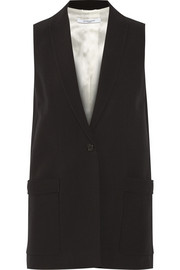 Vest in black crepe