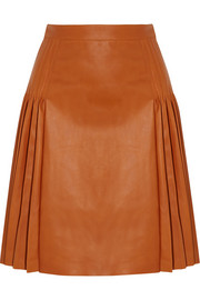 Givenchy Pleated leather skirt