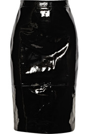 Pencil skirt in black patent-leather
