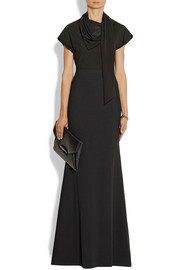Givenchy Crepe fishtail maxi skirt