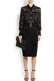 Pencil skirt in black stretch-jersey