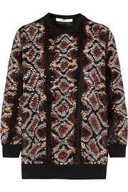 Sweater in python sequined silk-chiffon