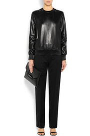 Givenchy Sweatshirt in black leather