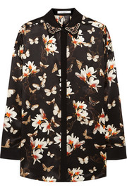 Givenchy Shirt in moth-print silk-satin