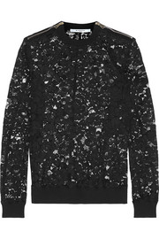 Sweatshirt in black lace