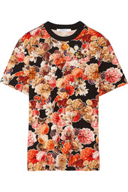 T-shirt in floral-print cotton-jersey