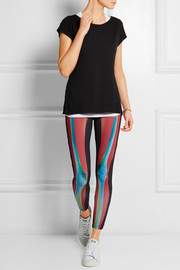 + Rita Ora O-Ray printed stretch-jersey leggings