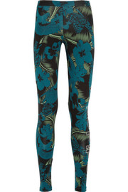 Hawaii printed stretch-cotton jersey leggings