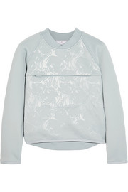Embossed stretch-scuba jersey sweatshirt