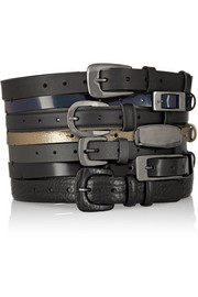 Layered leather waist belt