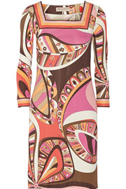 Emilio Pucci Printed stretch-jersey mini dress