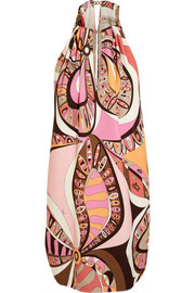 Emilio Pucci Printed stretch-crepe mini dress