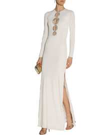 Emilio Pucci Crystal-embellished cutout jersey gown