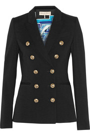 Emilio Pucci Double-breasted stretch-gabardine blazer