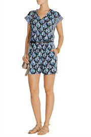 Emilio Pucci Printed jersey playsuit
