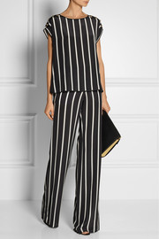 Emilio Pucci Striped silk crepe de chine top
