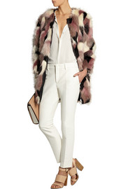 Nina Ricci Reversible patchwork faux fur coat