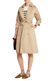 Greta cotton-gabardine trench coat