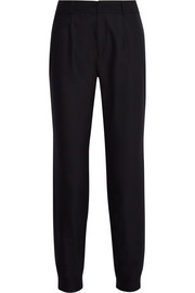 Megeve wool and cotton-blend tapered pants