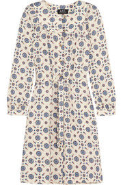 Riviera printed crepe dress