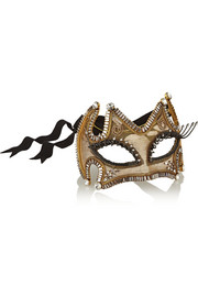 Out Of This World Swarovski crystal-embellished gold-plated mask