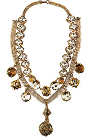 Heart of Gold gold-plated Swarovski crystal necklace
