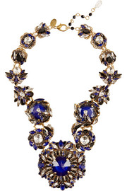 Queen Bee gold-plated Swarovski crystal necklace