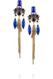 Telepathic gold-plated Swarovski crystal earrings