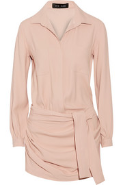 Stretch-crepe playsuit