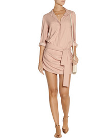 Jay Ahr Stretch-crepe playsuit