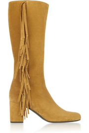 Saint Laurent Fringed suede boots