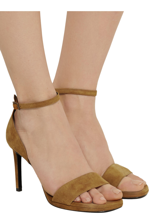 SAINT LAURENT Jane suede sandals