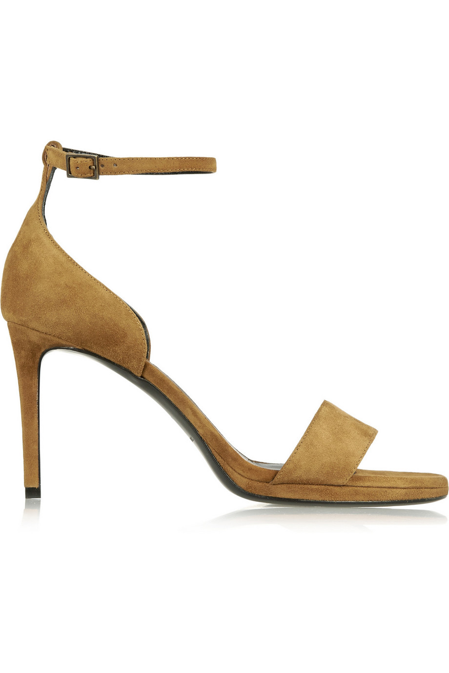Saint Laurent Jane Suede Sandals, Tan, Women's US Size: 5, Size: 35.5