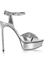 Bianca metallic elaphe sandals