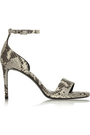 Jane snake-effect leather sandals