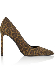 Paris leopard-print suede pumps